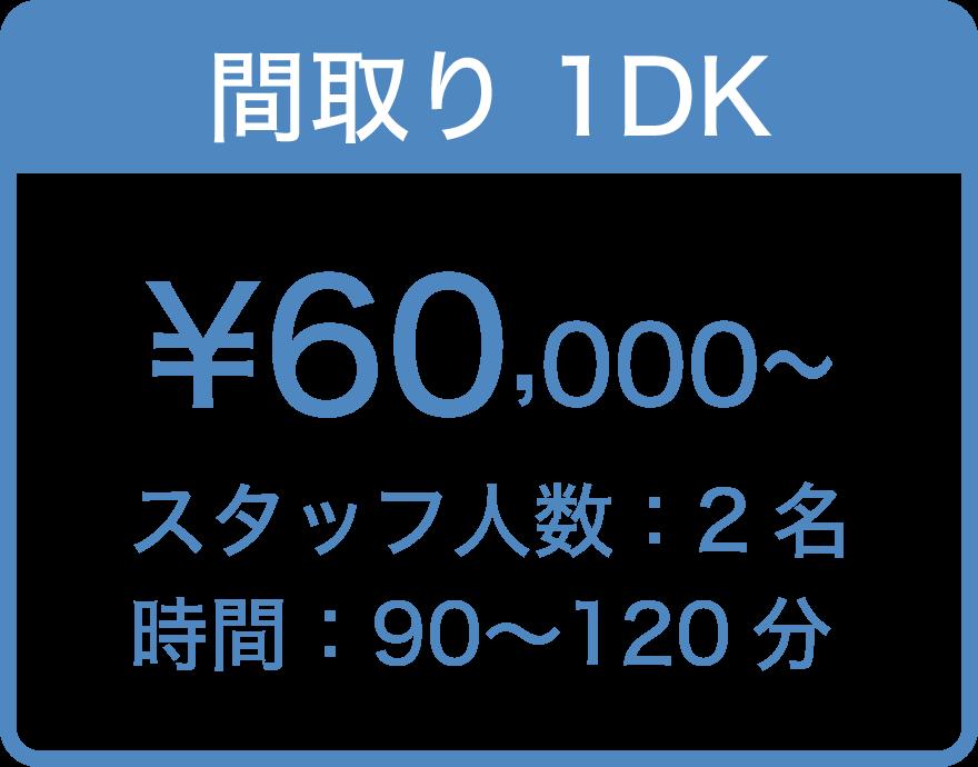 間取り1DK ¥60,000〜
