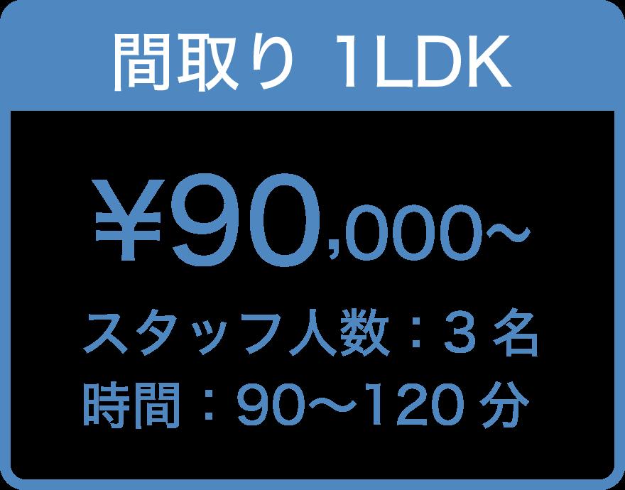 間取り1LDK ¥90,000〜