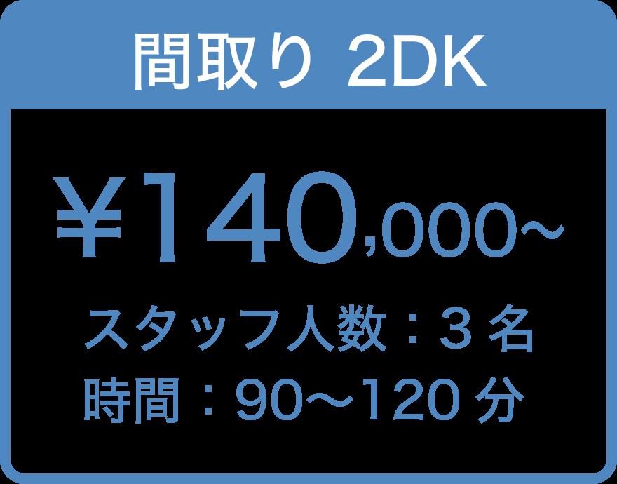 間取り2DK ¥140,000〜