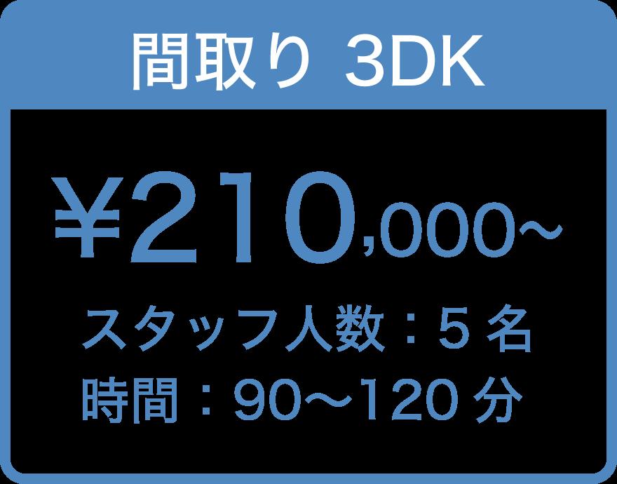 間取り3DK ¥ 210,000〜