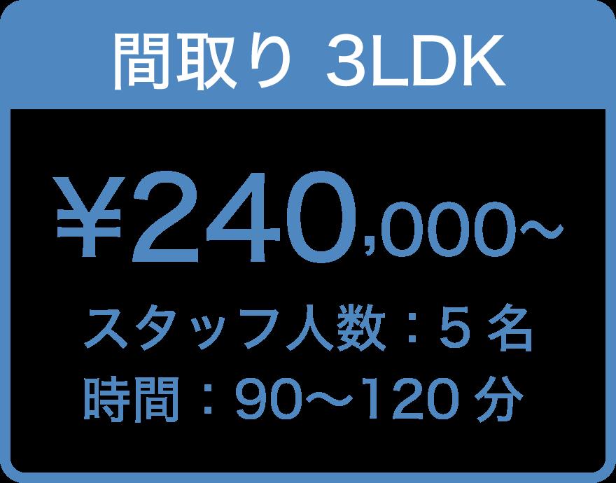間取り3LDK ¥ 240,000〜